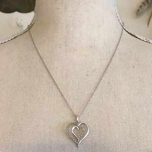 SR Jewelers sterling diamond accent heart necklace